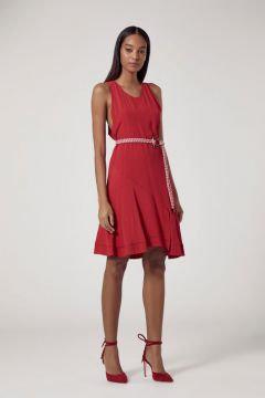 Vestido sem mangas vermelho Animale - M