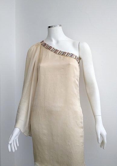 Vestido de festa de um ombro só Diva Couture - P