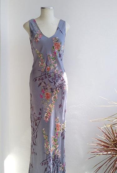 Vestido longo de seda estampada Papéll Boutique - M