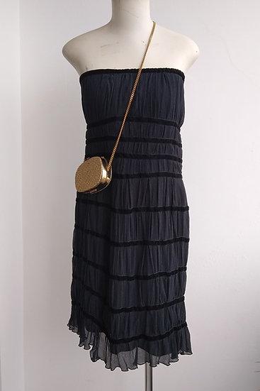 Vestido de seda tomara-que-caia Bebesh - 42