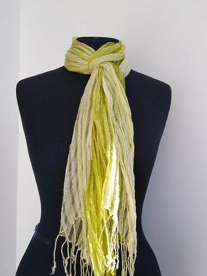 Écharpe verde clara degradé