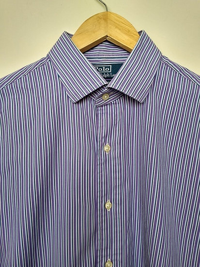 Camisa listrada lilás Ralph Lauren - G