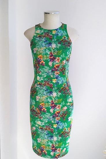 Vestido justo floral Zara - P