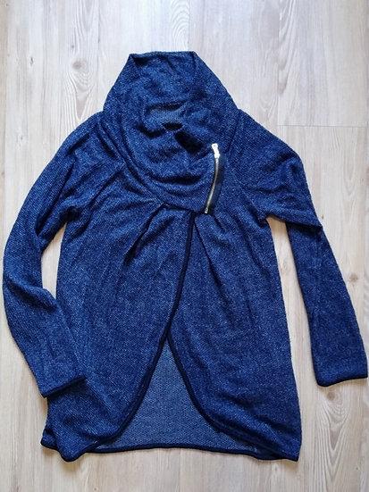 Blusa de tricô transpassada - P