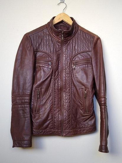 Jaqueta de couro marrom Animale - 38