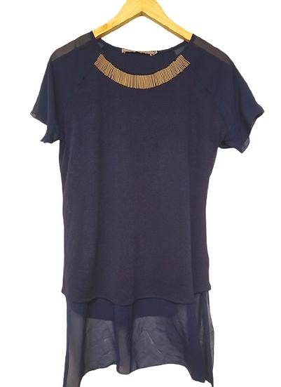 Blusa detalhe metal Espaço Fashion - G