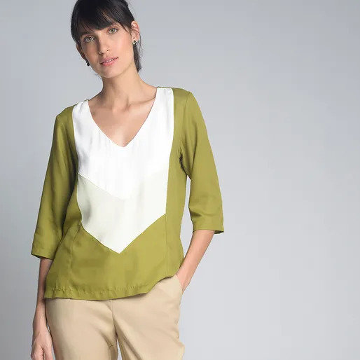 Blusa tricolor Cori - 40 42
