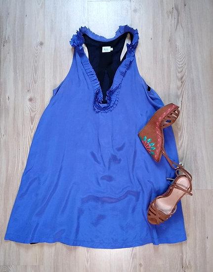 Vestido cavado de seda Daslu - 36 38 40 42