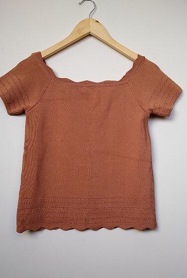 Blusa tricô rendado Cori - M
