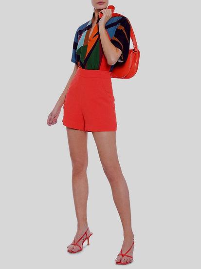 Shorts de crepe laranja Animale - 42
