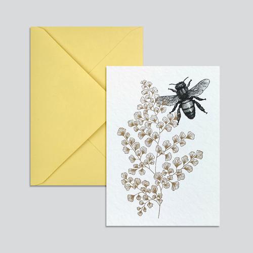 Grusskarte Biene