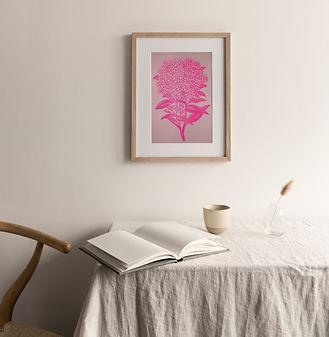 Riso Art Print Hortensie