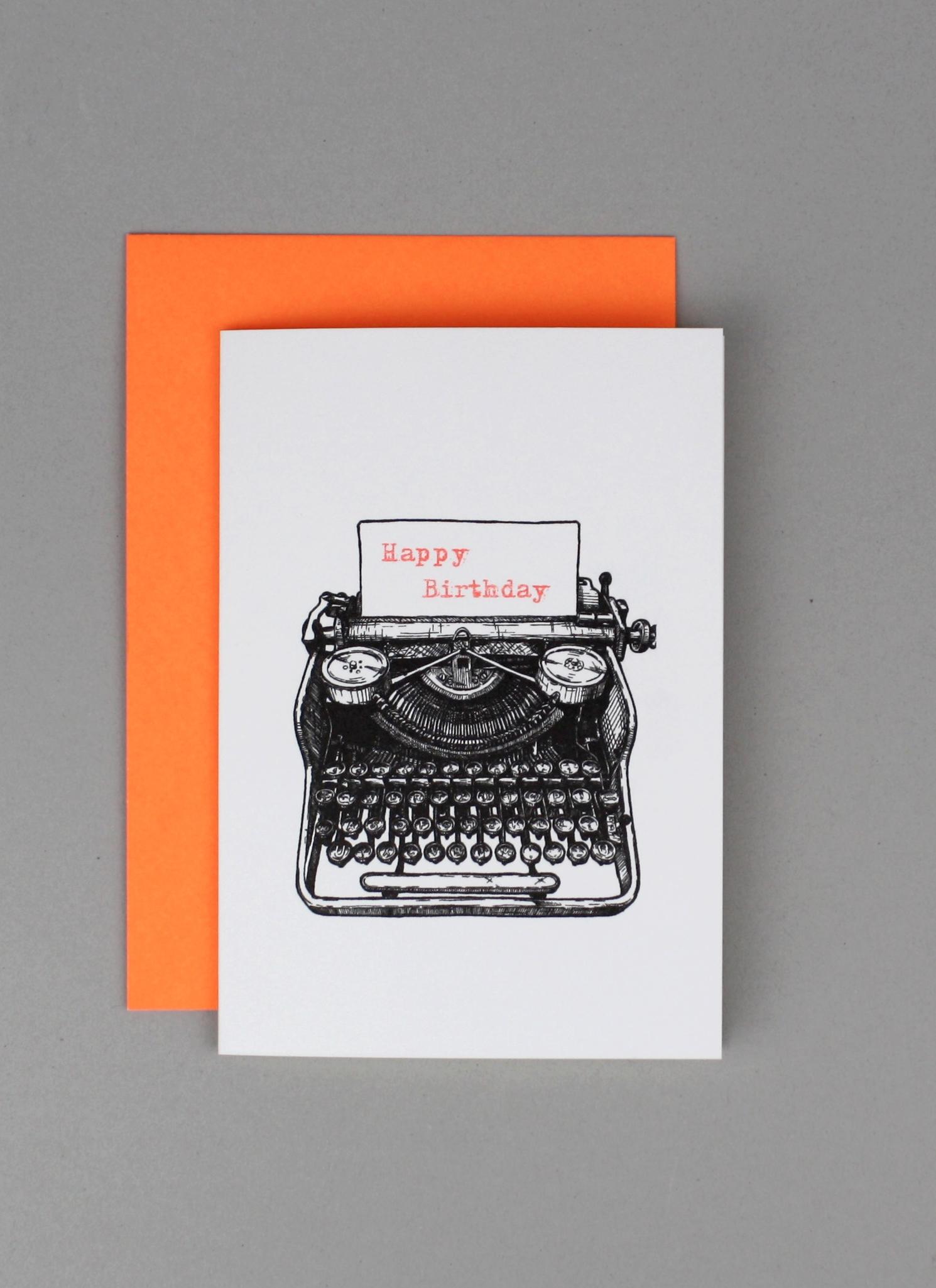 Happy Birthday-Schreibmaschine
