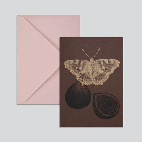Grusskarte Schmetterling+Feige