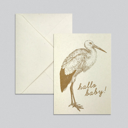 Babykarte Storch