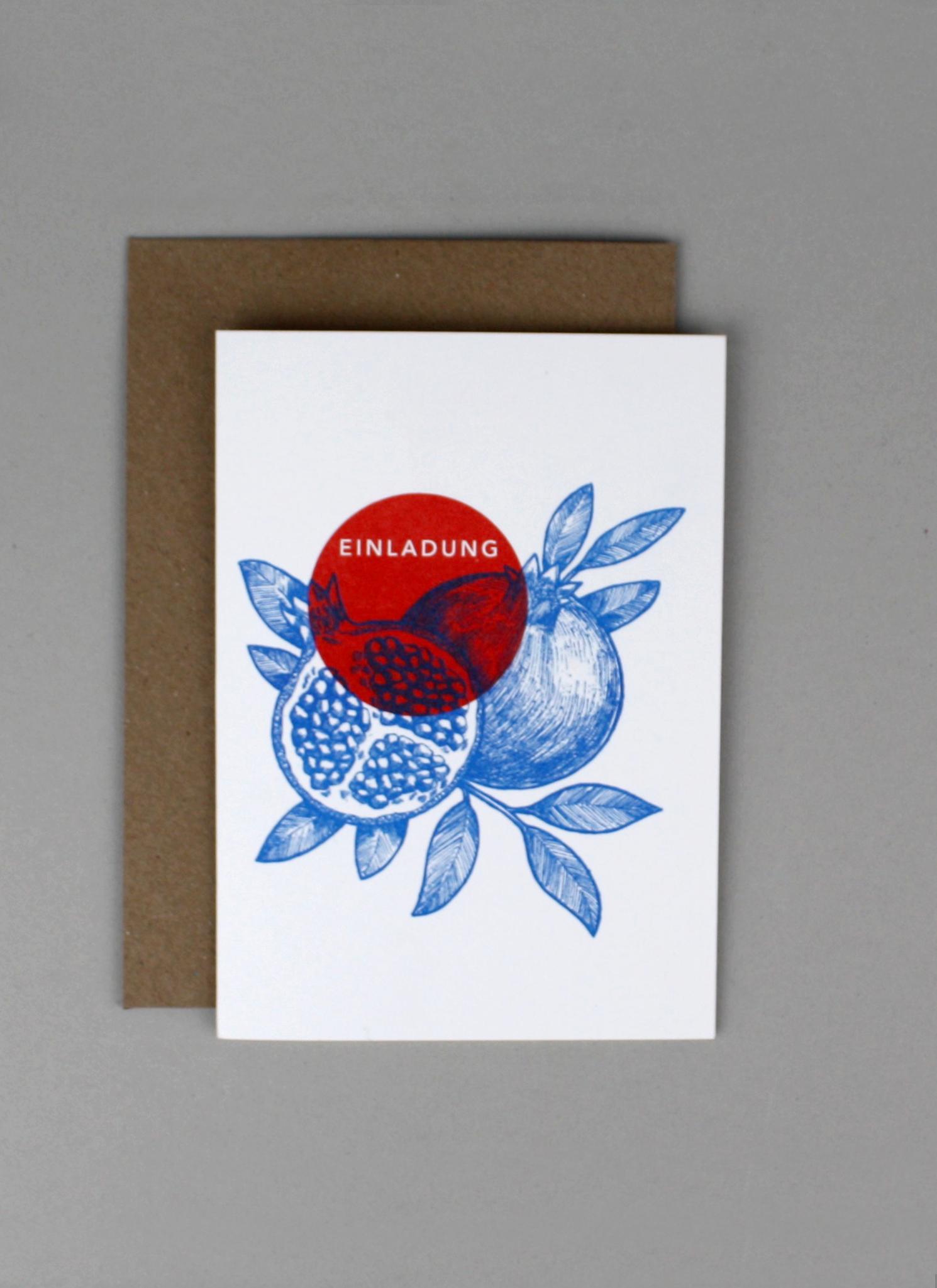 Einladung Granatapfel