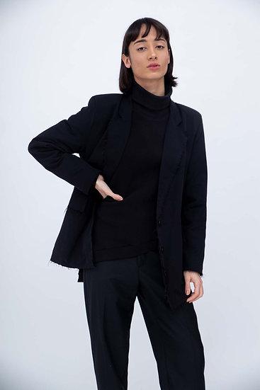 Asymmetric Black Sweater