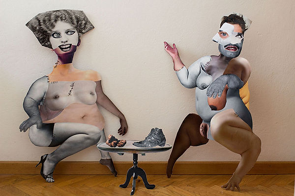 Momo project di Chiara Bizzarra Giovanelli, progetto mixed media, installazione artistica fotografica
