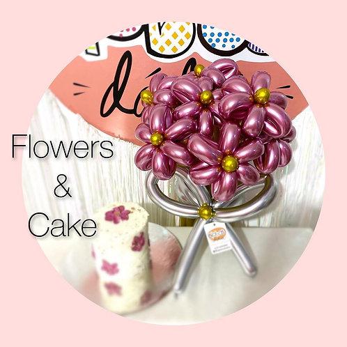 Flores y Pastel