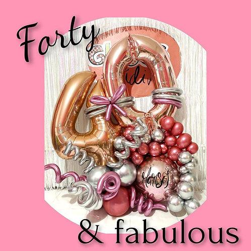 Bouquet de cumpleaños forty&fabulous