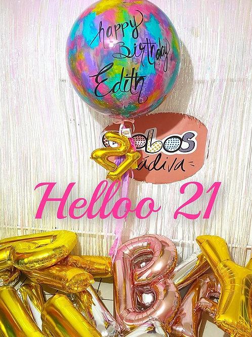 "Globo Jumbo 36"" con números"
