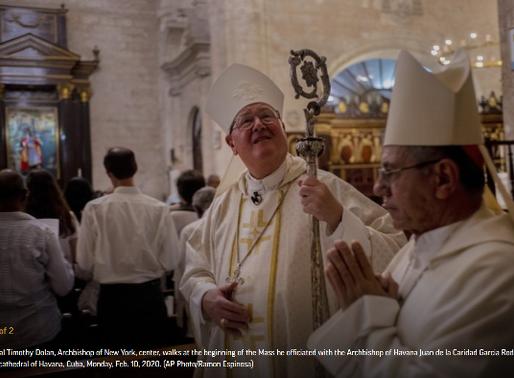 New York Cardinal Timothy Dolan visits Cuba