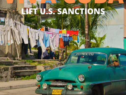 Lift Cuba Sanctions Days of Action, July 27-29, 2020  #UnblockCuba  #VivaCUBA