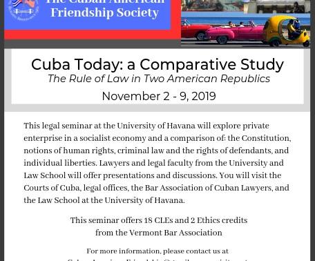 Earn CLEs in Cuba