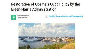 Restoration of Obama's Cuba Policy by the Biden-Harris Administration   MoveOn