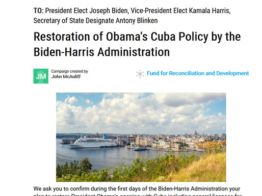 Restoration of Obama's Cuba Policy by the Biden-Harris Administration | MoveOn