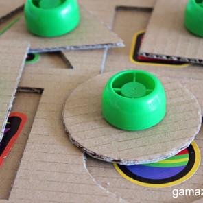 Układanka sorter DIY - Zabawka z recyklingu