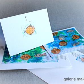 Pocztówki z wakacji ręcznie robione