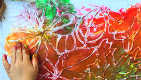 Sensoryczna kolorowanka 3D - Jesienne liście