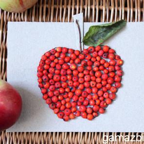 Jesienne wyklejanki – Jabłko z jarzębiny