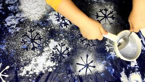 Malowanie śnieżnym pyłkiem