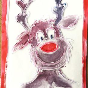 Kartki świąteczne ręcznie malowane
