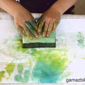 Sensory sponge fun - Art activities for kids