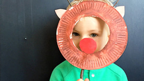 Świąteczna maska – Renifer