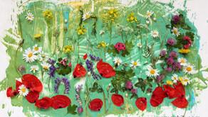 Łąka kwiatów dla Mamy – Zabawa plastyczna