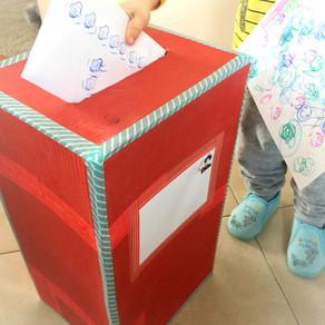 Skrzynka na listy zabawka dla dzieci DIY z recyklingu