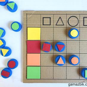 Zabawa planszowa – Edukacyjna zabawka z recyklingu