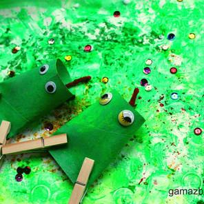 Wiosenna łąka z żabami – dziecięce interpretacje naturą