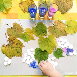 Barwienie pipetą - Winorośl