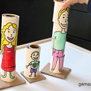 Puzzle edukacyjne 3D – Zabawka z recyklingu