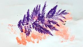 Kolorowe odbitki natury - Kreatywne zabawy plastyczne