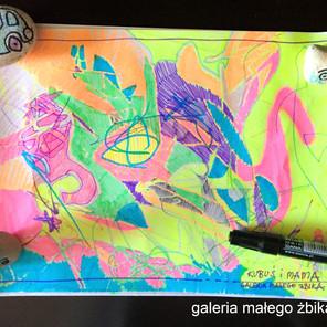 Pierwsze kroki rysowania czyli Kandinsky art i kalejdoskop kolorów