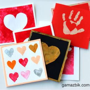 Kartki na Walentynki ręcznie robione z dziećmi