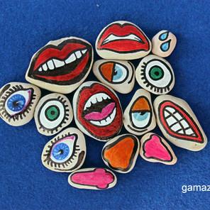 Emocje - Kamienne puzzle DIY – Sztuka malowania na kamieniu