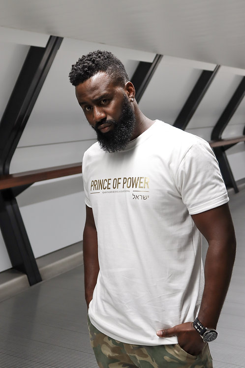PRINCE OF POWER - Unisex White T-Shirt