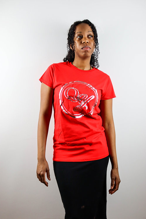 QY Couture - Woman's Emblem Red T-Shirt